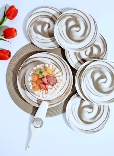 Mermer Desen 8 Parça Porselen Pasta Seti-Kitchen World